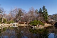 池塘在东方公园 库存照片