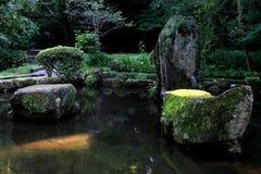 池塘在公园 免版税库存图片