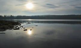 池塘在南波希米亚的乡下 库存图片