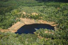 池塘在考艾岛 免版税库存图片