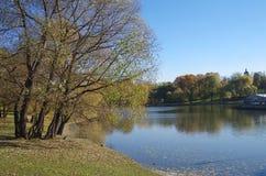 池塘在Tsaritsyno 免版税库存照片