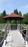 池塘的塔 免版税库存照片