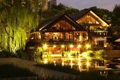 池塘餐馆 库存图片