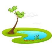 池塘 库存例证