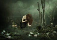 黑池塘 图库摄影