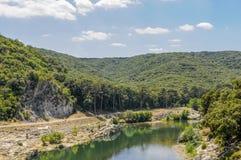 池塘Du加尔省,法国 库存照片