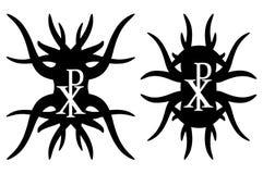 池氏希腊字母的第17字行家元素 Christogram 皇族释放例证