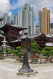 池氏林女修道院,唐朝样式中国寺庙,香港 库存图片