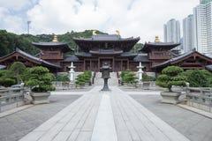 池氏林女修道院,唐朝样式寺庙,香港 库存照片