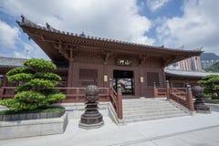 池氏林女修道院,唐朝样式寺庙,香港 免版税库存照片