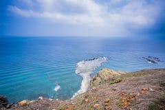 池氏阿梅海岛是近海台湾岛在澎湖 有风景`一点台湾` 免版税库存照片