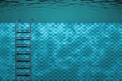 池水下场面的游泳 图库摄影