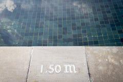 池深度符号 库存图片