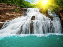 池瀑布 库存照片