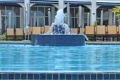 从水池的看法到旅馆修造普罗梯亚木旅馆总统 免版税库存图片