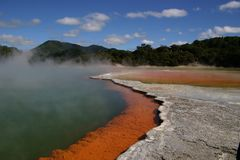 池硫磺 库存图片
