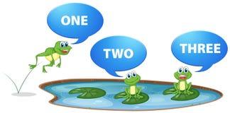 池蛙和第一到三 皇族释放例证
