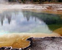 池被反射的上升暖流 免版税库存照片