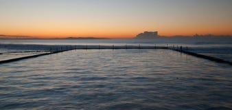 水池Cronulla,悉尼 免版税库存照片