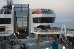水池MSC Splendida甲板地区  库存照片