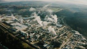 污染化工厂,鸟瞰图 股票视频