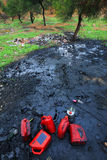污染土壤 库存图片