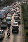 污染在城市 免版税库存照片