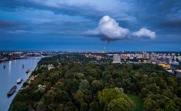 污染在布拉索夫,斯洛伐克 库存照片