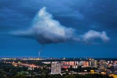 污染在布拉索夫,斯洛伐克 图库摄影