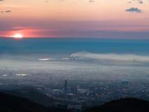污染城市的全景图象 免版税图库摄影