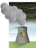 污染工厂 免版税库存图片