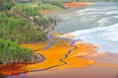 污染水 免版税库存图片