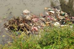 污染河 免版税图库摄影