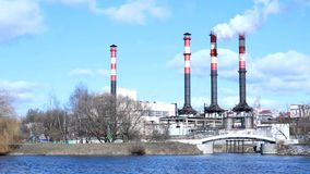 污染环境:烟斗能源厂 股票录像