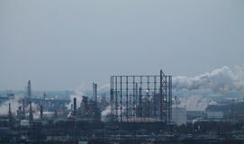 污染的作用 免版税库存图片
