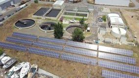 污水处理厂和造船厂鸟瞰图在Olhao,葡萄牙 股票视频