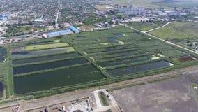 污水处理厂在Slavyansk在库班河州农业大学 sewa的水 库存照片
