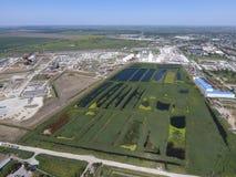污水处理厂Slavyansk在库班河州农业大学 sewa的水 库存图片