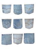 污浊的斜纹布口袋 免版税库存图片