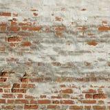 污点红色白色老砖墙框架背景纹理 图库摄影