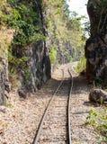 污蔑铁路线 库存照片