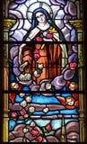 污迹玻璃窗Notre Dame大教堂 库存照片