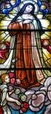 污迹玻璃窗Notre Dame大教堂 免版税库存图片