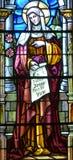 污迹玻璃窗Notre Dame大教堂 免版税库存照片