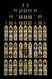 污迹玻璃窗会议厅伦敦 图库摄影