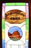 污迹玻璃窗圣Dominick的教堂 库存图片