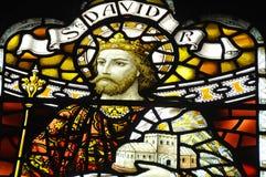 污迹玻璃窗在格拉斯哥大教堂里 库存图片