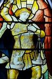 污迹玻璃窗在格拉斯哥大教堂里 免版税库存照片