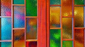 污迹玻璃窗 库存照片
