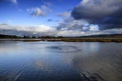 污水出水口,港湾Swilly, Co Donegal 图库摄影